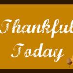 November Goals & Thankful Day 1