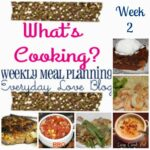 {What's Cooking} Weekly Meal Plan #3