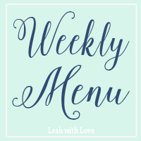 {What's Cooking} Weekly Meal Plan #11