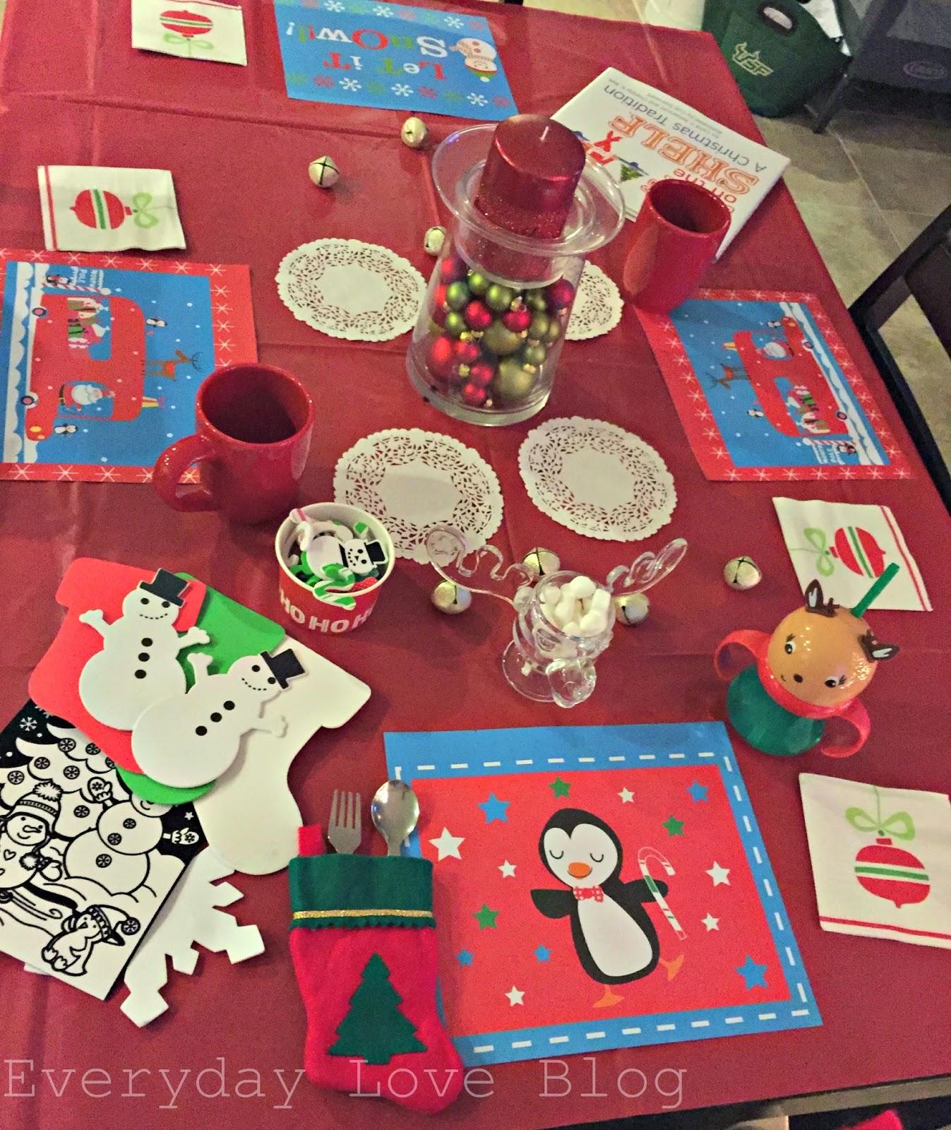 North Pole Breakfast & 25 Toddler Elf on the Shelf Ideas