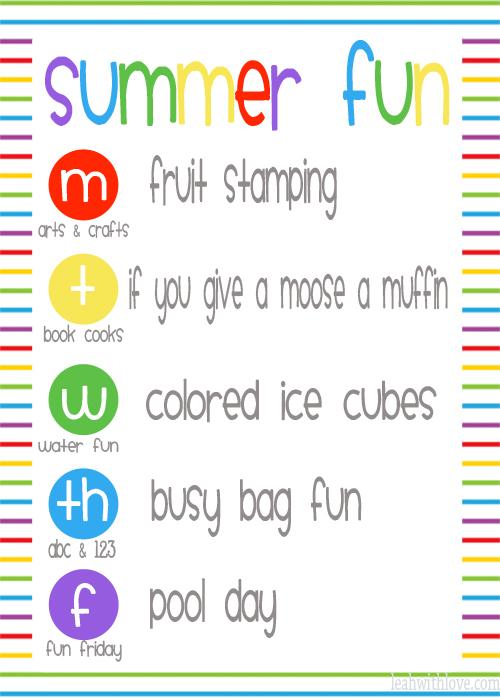 Summer Fun Week 6