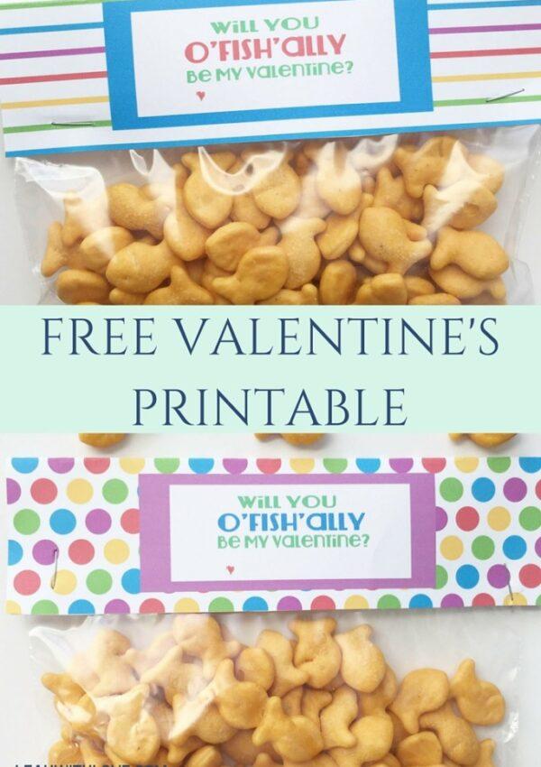 O'FISH'ALLY Be My Valentine- Free Printable