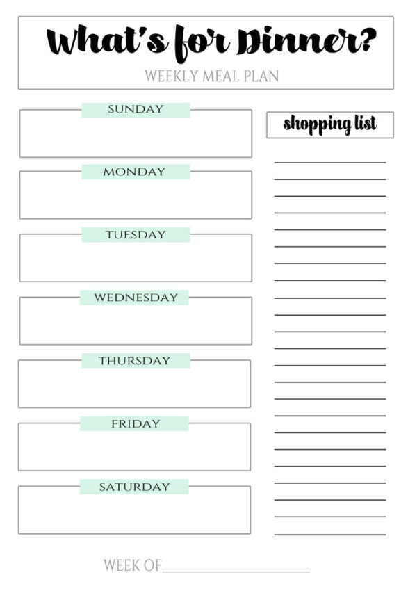 Meal Planning Tips & Free Printable
