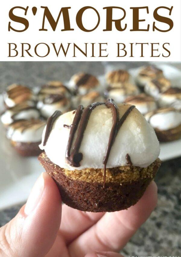 S'mores Brownie Bites