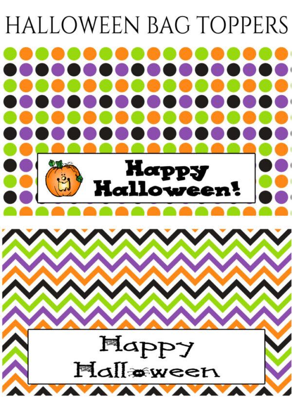 Happy Halloween Bag Toppers