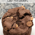 chocolate-peanut-butter-chip cake mix cookies