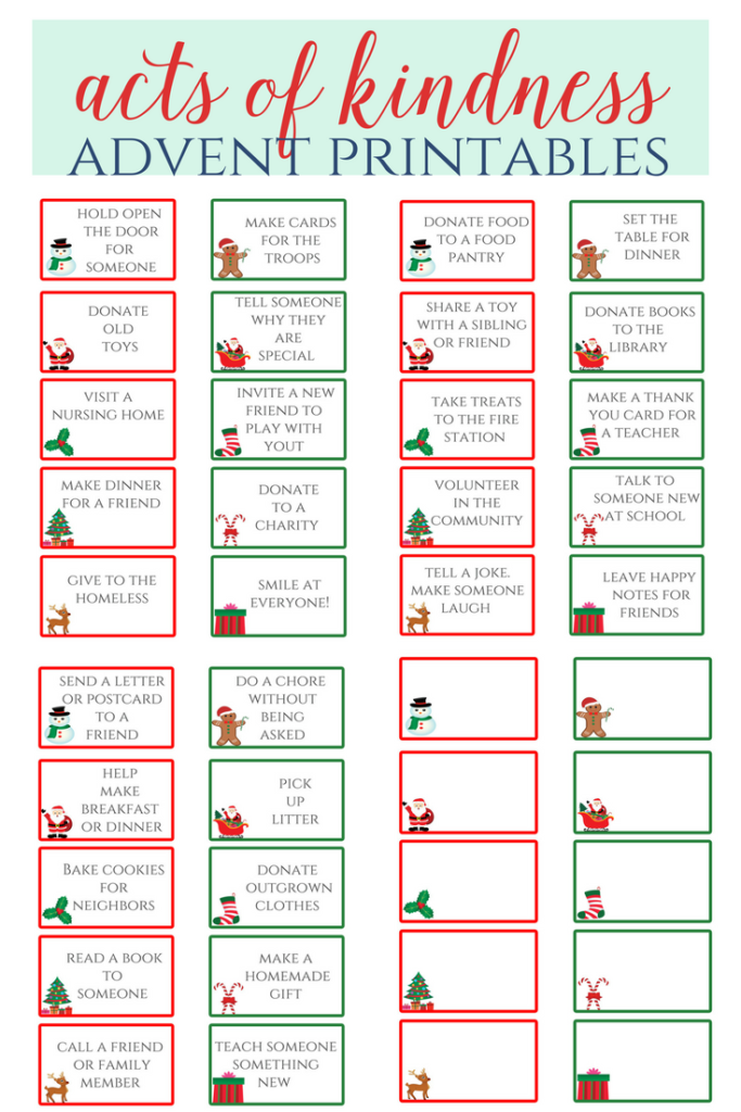 acts of kindness printable