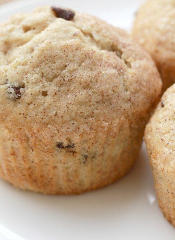 cinnamon sugar banana muffins