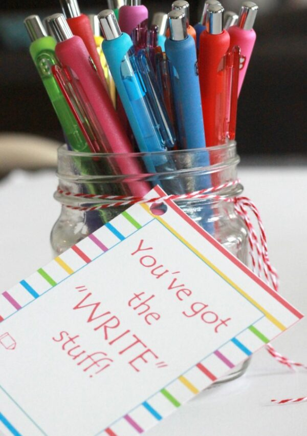 """WRITE"" Teacher Gift Printable"