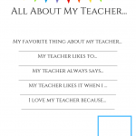 Teacher Appreciation Survey For Kids