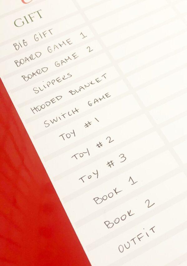 Christmas Gift Planning Printable