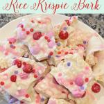 Valentine's Rice Krispie Bark