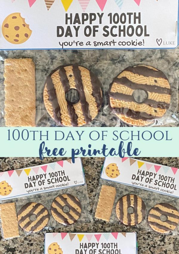 100 Days of School Cookies & Printable