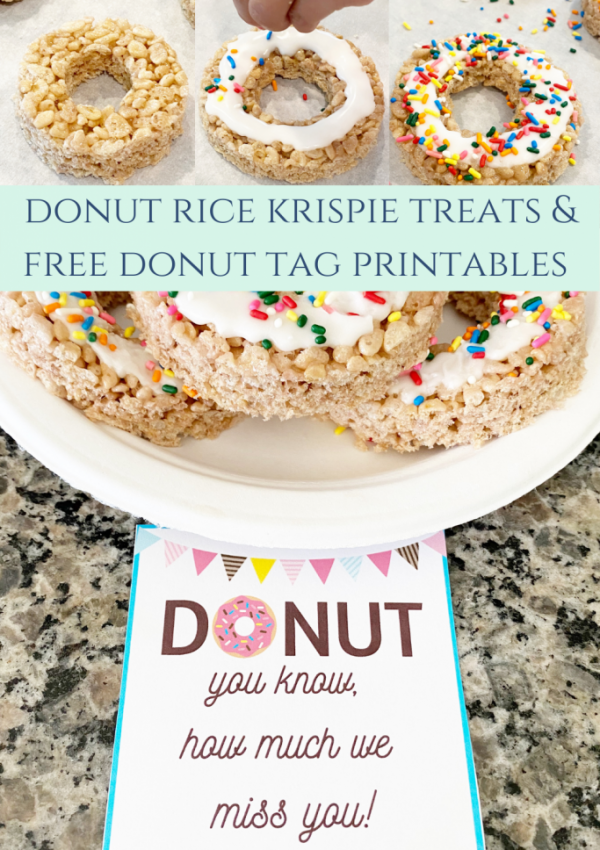 Rice Krispie Donuts & Free Donut Printable