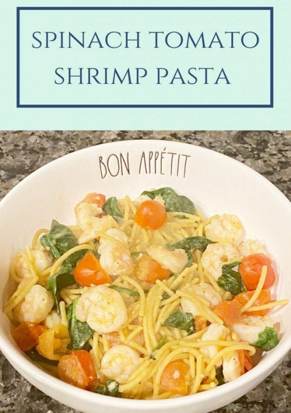 Spinach Tomato Shrimp Pasta