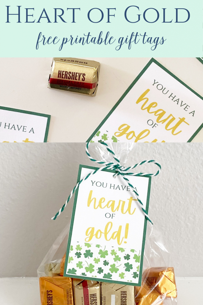 heart of gold gift tags