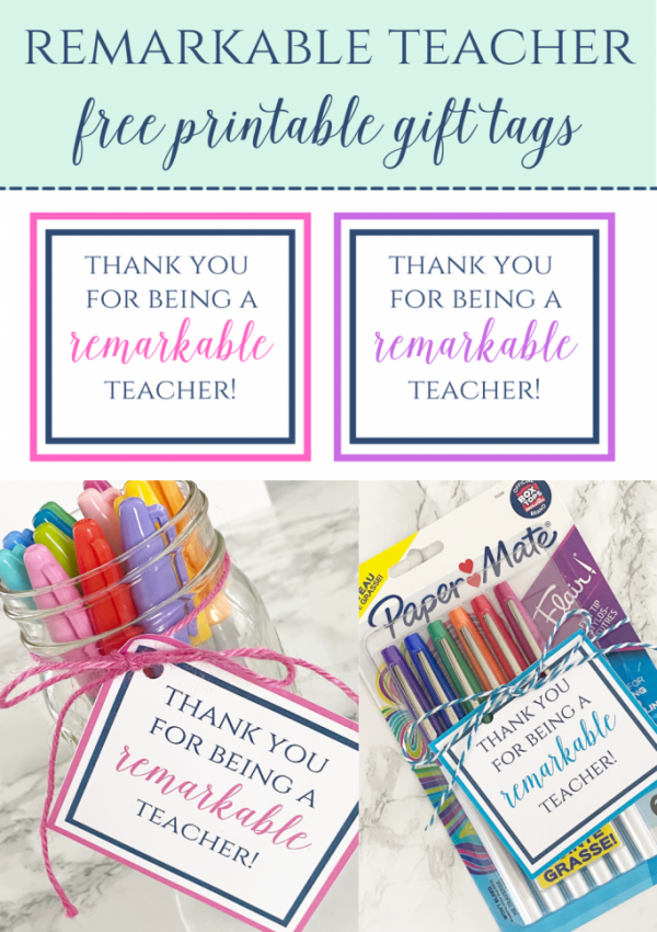 Remarkable Teacher Gift Tags
